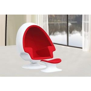 ALPHA EGG CHAIR AND OTTOMAN