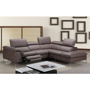 Anastasia Premium Leather Sectional By J&M