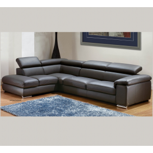 """Angel"" Premium Italian Leather Sectional By Nicoletti"