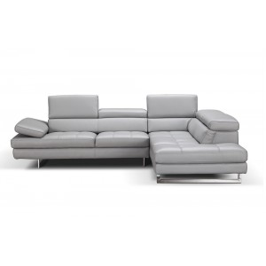 Aurora Premium Leather Sectional By J&M