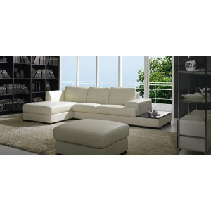 BO 3893 - Contemporary Low Profile Leather Sectional