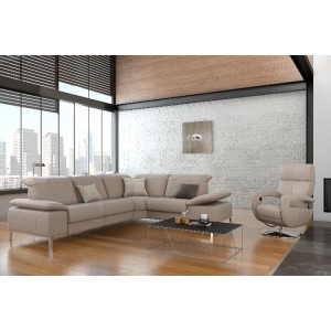 Chronos II Leather Sectional | Rom | Made in Belgium