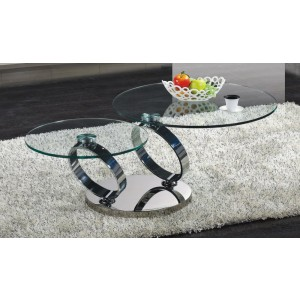 C205 glass coffee table
