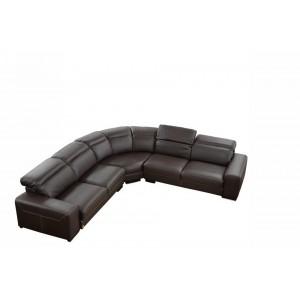 Dima Salotti Made in Italy Brown Sectional Sofa - Nadir