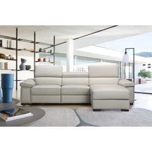 Fabia Premium Leather Sectional By J&M