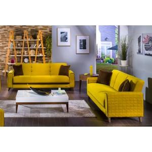 Fabio 3 Seat Sleeper by Sunset Lilyum Yellow