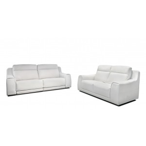 Funes Premium Leather power reclining sofa by IDP Italia