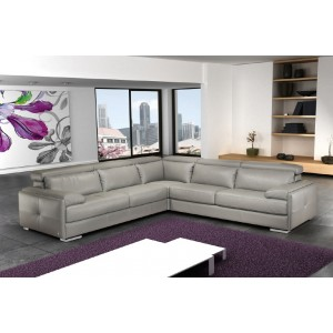 Gary Italian Leather Sectional by Nicoletti