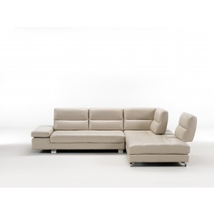 Gemma Premium Leather sectional with sliding Backs by IDP Italia