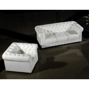 Paris Modern White Leather Sectional Sofa