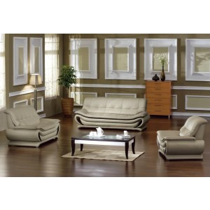 2801 - Bonded Leather Sofa Set