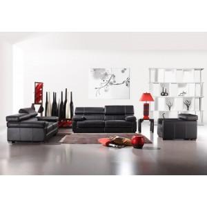 Bella Italia Leather 381 Sofa Set in Black Category 3
