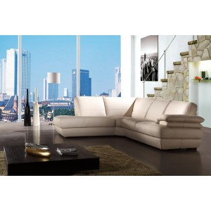 Bella Italia Leather 208 Sectional Sofa in White