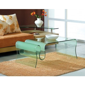 A 062 GLASS COFFEE TABLE