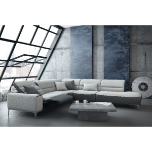 Kamena Leather Sectional | Rom | Made in Belgium