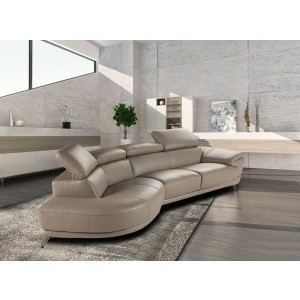 Marisol Premium Leather Sectional By J&M