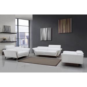 1547 white leather sofa set