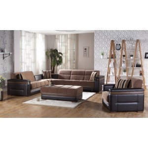 Moon Sectional Troya brown By Sunset
