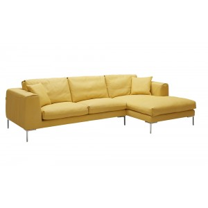 Soleil Premium Leather Sectional By J&M