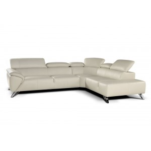 Tesla Premium Leather Sectional By J&M