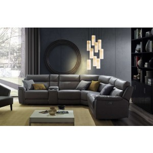 Tony 5 Piece Sectional Sofa with Power Recliners