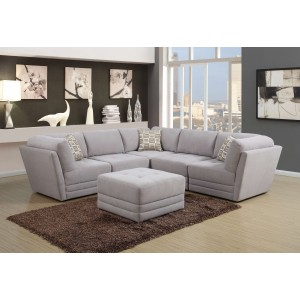 137 Modern Leather Sectional By Global USA