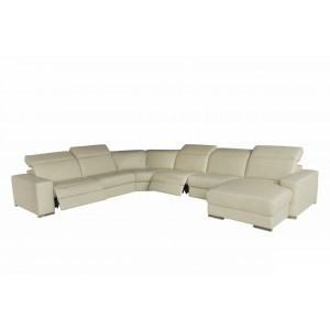 u27E leather sectional with recliners| Chateau d'ax Italia