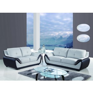 3250 Modern Leather Sofa by Global USA