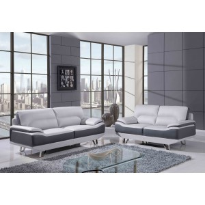 7330 Modern Leather Sofa By Global USA