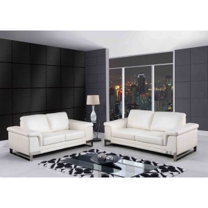 7660 Modern Leather Sofa By Global USA