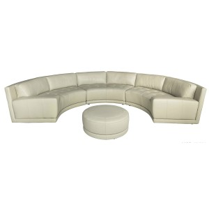 U807 Curved modern leather sectional| Chateau d'Ax Italia