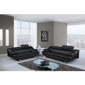 8141 Modern Leather Sofa By Global USA
