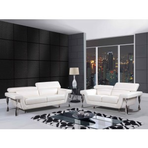 8180 Modern Leather Sofa By Global USA