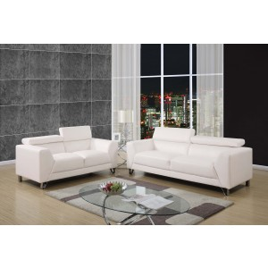 8210 Modern Leather Sofa By Global USA