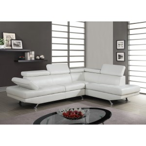 9782 Contemporary Leather Sectional