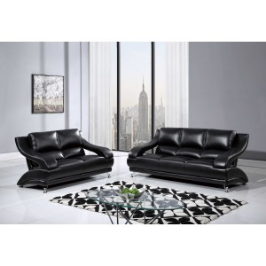 982 Modern Leather Sofa By Global USA