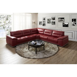 Valentino Premium Leather Sectional By J&M