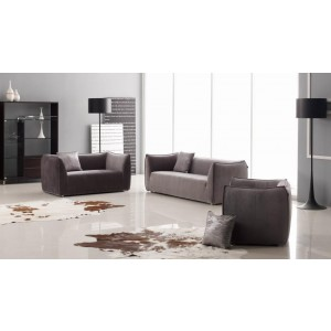 Beverly - Contemporary Fabric Sofa Set