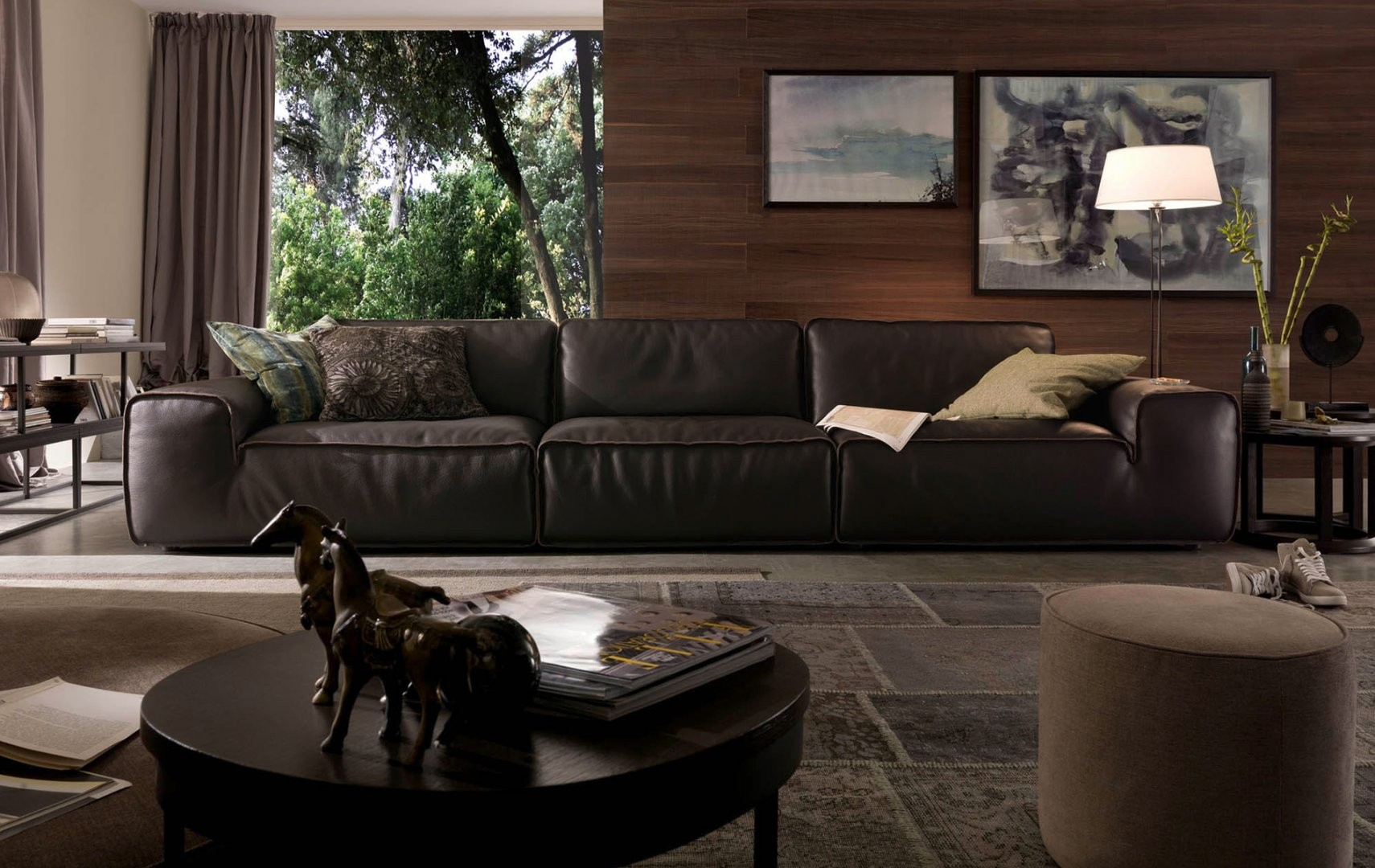 Avenue Leather Sectional By Chateau D Ax Italia Is Available At  # Meuble Tv Chateau D Ax