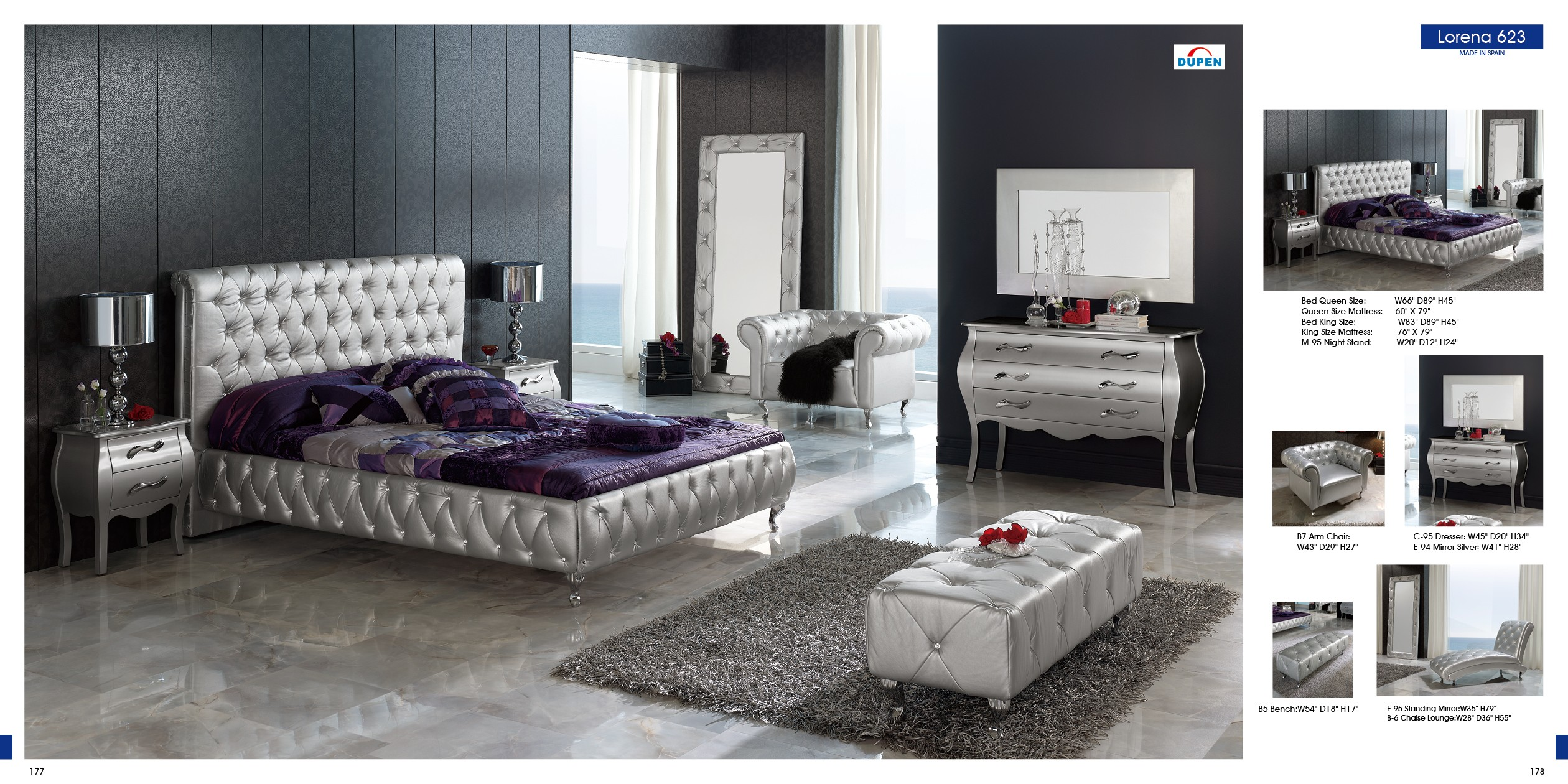 Modern Bedroom Furniture 633 Loren By Dupen Bedroom Nova Interiors Contemporary Furniture