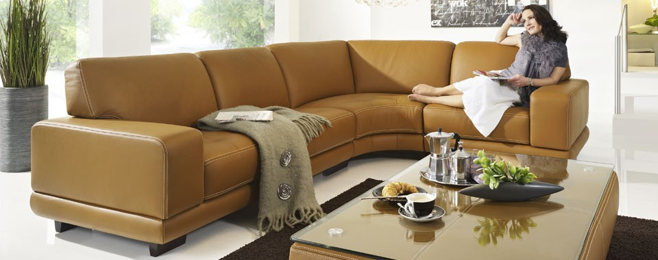Heidelberg Leather Sectional By W Schillig Germany Nova Interiors