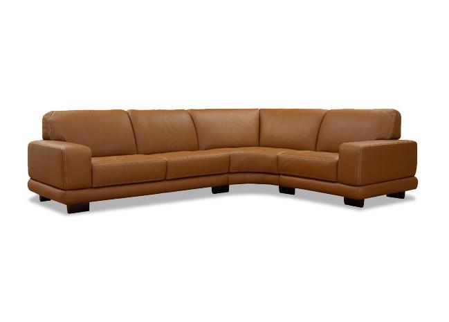 heidelberg leather sectional by w schillig germany nova. Black Bedroom Furniture Sets. Home Design Ideas