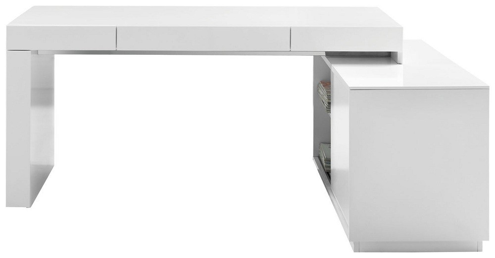 S005 modern office desk white high gloss available for for Modern white office