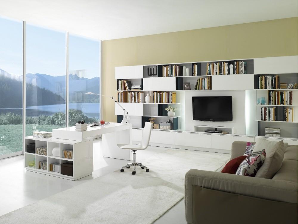 S005 Modern Office Desk White High Gloss Available For