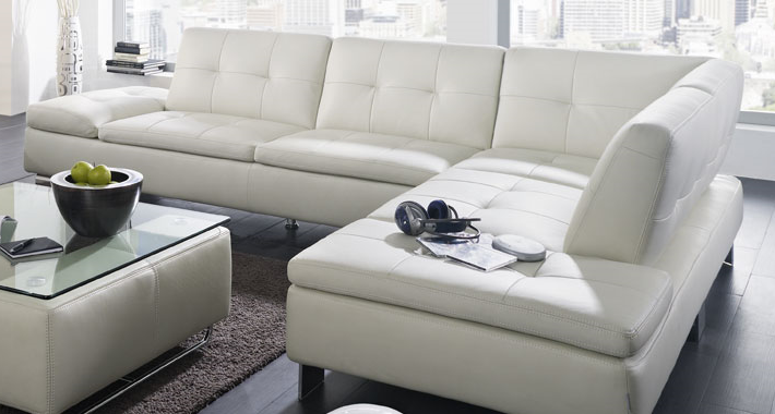 Primanti Contemporary Leather Sectional By W Schillig At
