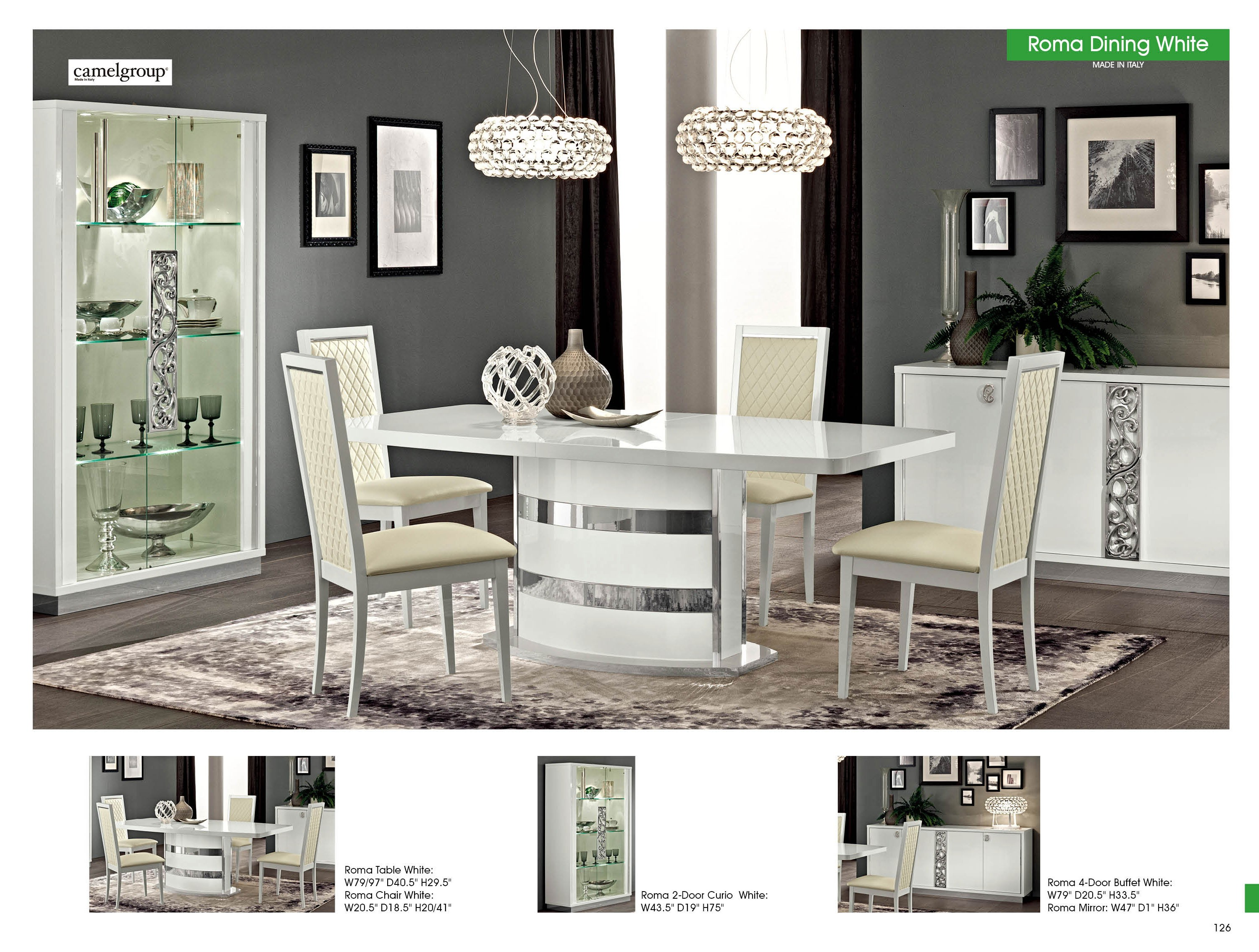 Roma Dining Room Set By Alf Made In Italy Buy From Nova