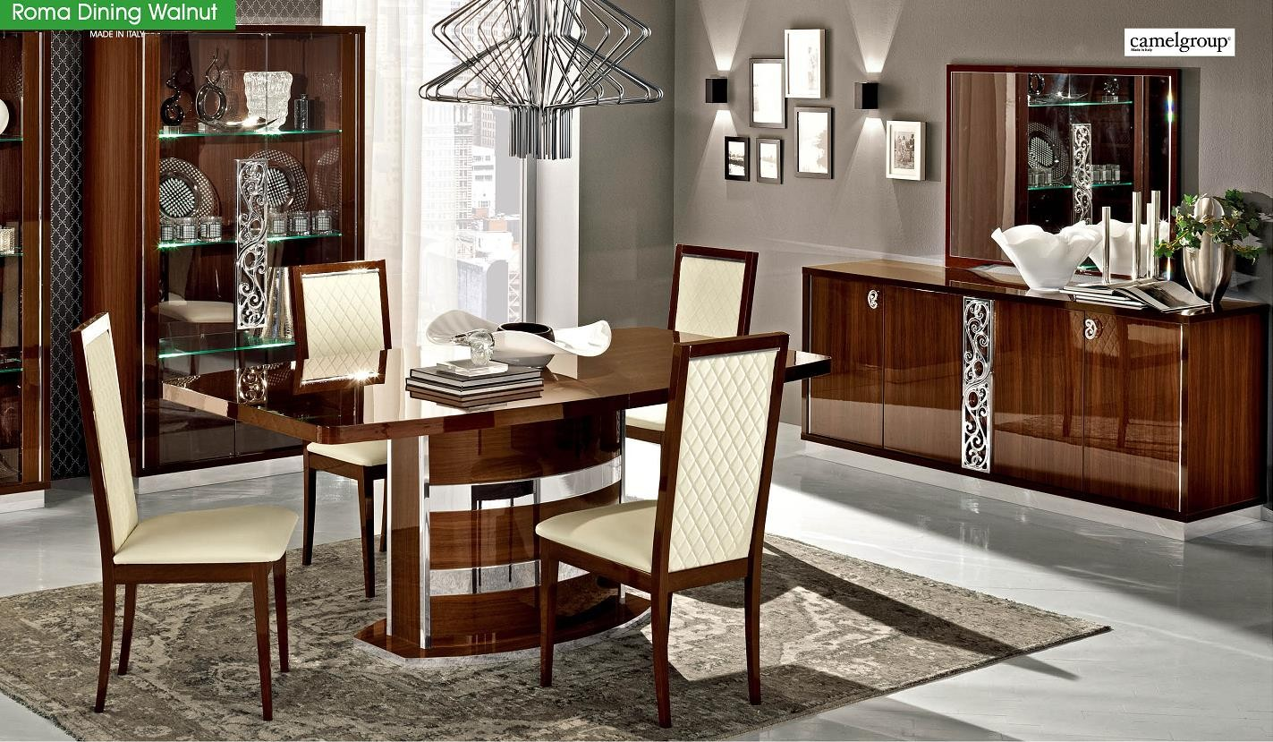 Roma Dining Room Set By ALF Walnut Made In Italy