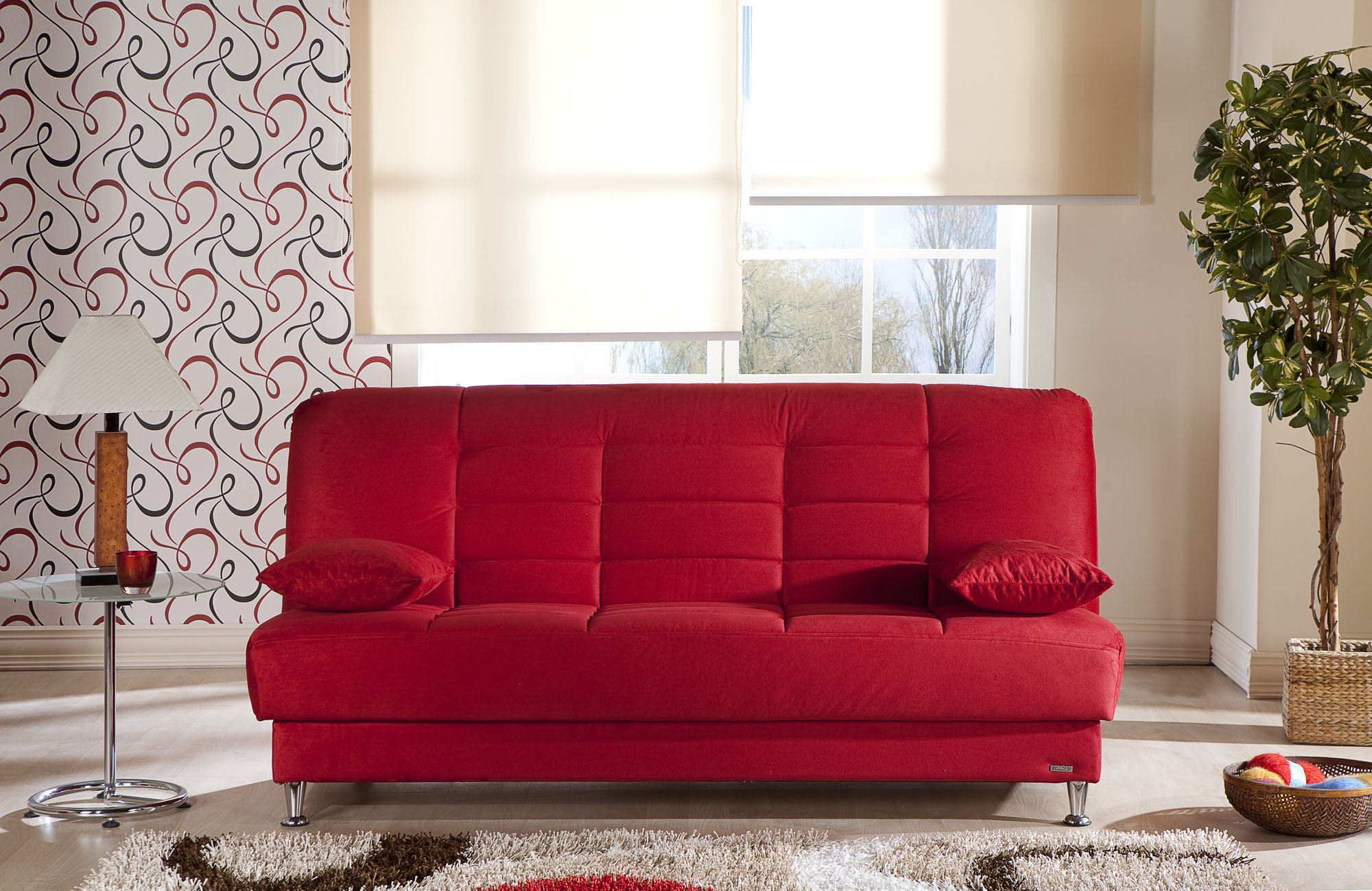 Modern Furniture Vegas vegas 3 seat sleeper rainbow redsunset buy from nova interiors