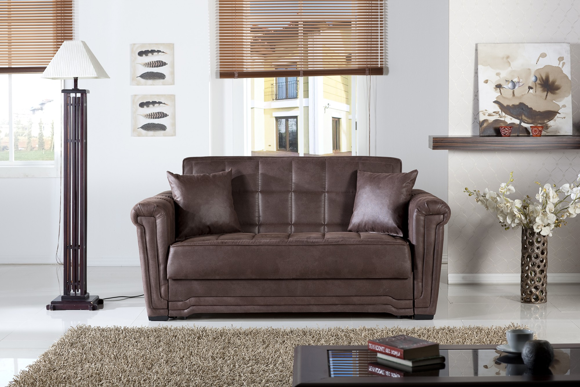Victoria Loveseat Sleeper Chocolate By Sunset Buy From