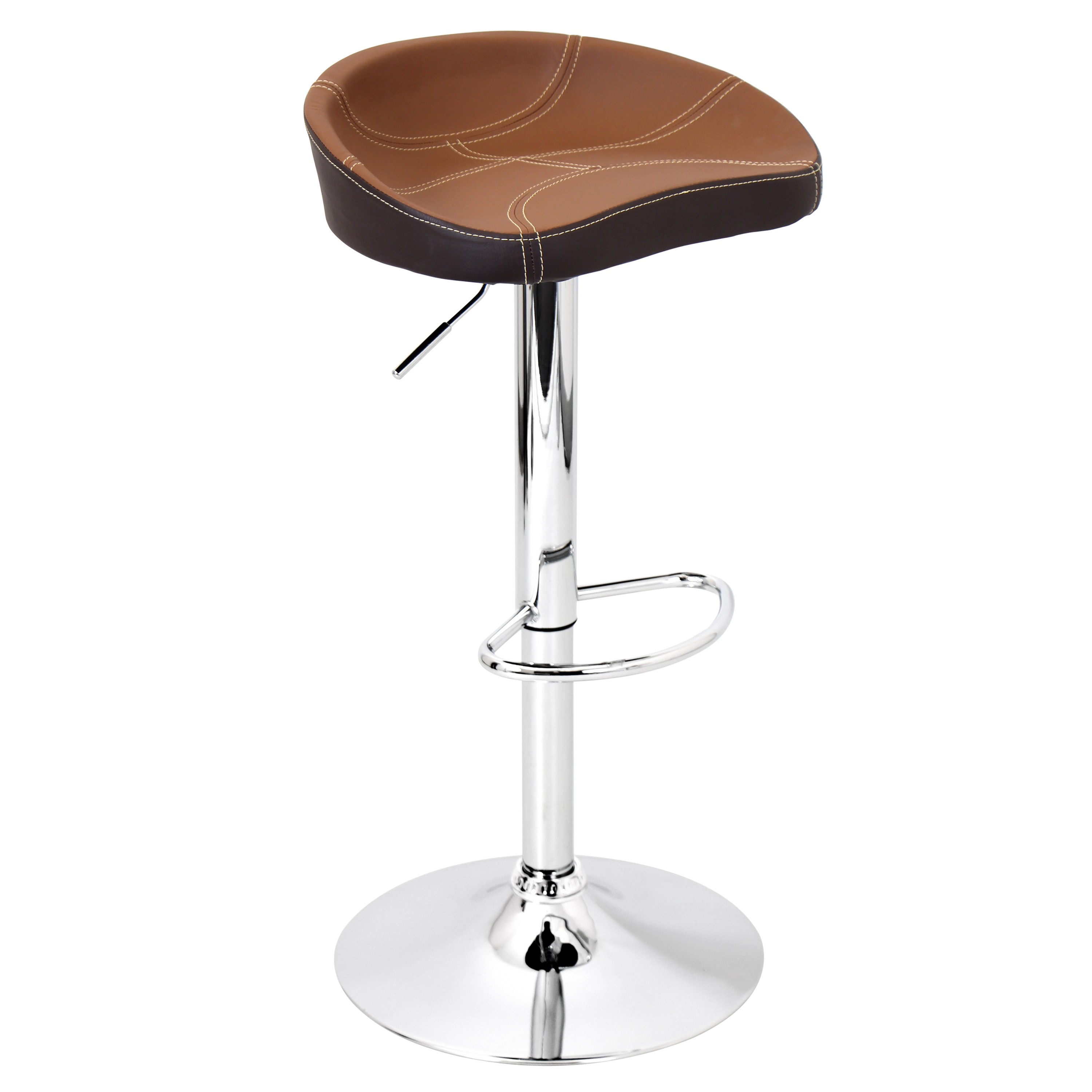 Slugger Bar Stool, Ale, Barstool, Upholstered Leatherette, Lumisource, 360  Swivel, Chrome, Hydraulic Bar Stool, Black, Kitchen Décor, Adjustable, ...